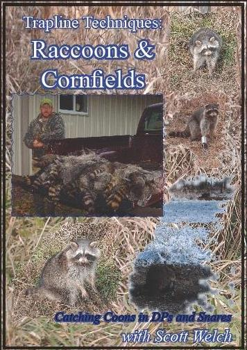 """Trapline Techniques: accoons & Cornfields"" DVD by Scott Welch welchcornfdvd13"